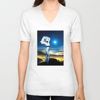 celestial V-neck T-shirts featuring Celestial by Danielle Tanimura