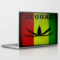 reggae Laptop & iPad Skins featuring REGGAE by shannon's art space