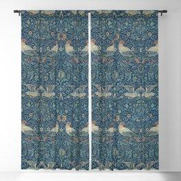 Bird by William Morris 1878 Antique Vintage Pattern CC0 Spring Summer Blackout Curtain