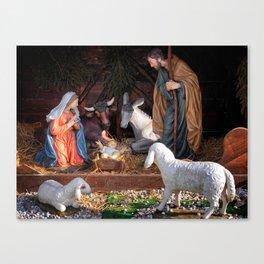 Christmas and Christianity. Nativity scene. Canvas Print