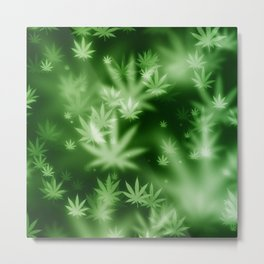 Brokeh Weed Metal Print