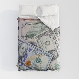 A collection of various foreign currencies Comforters