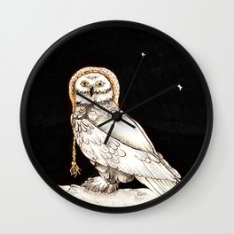 Starry Night Owl Wall Clock