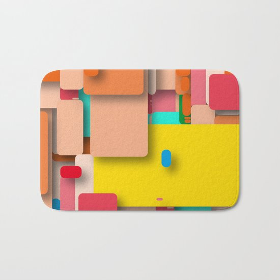 rounded rectangles Bath Mat