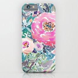 Wild Peony Floral iPhone Case