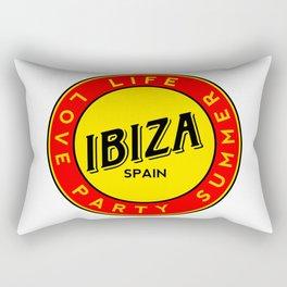 Ibiza, summer, party, love, circle Rectangular Pillow