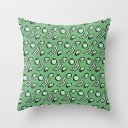 Veggies! (Green Background) Throw Pillow