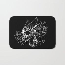 Skull 'n' Roses (NightmareNetty-Black&White) Bath Mat