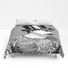 Tattooed Victorian Man Comforters