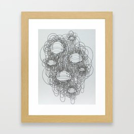 New Line Drawing Framed Art Print