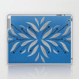 Silver Leafs – Blue Bell – Scandinavian Folk Art Laptop & iPad Skin