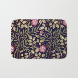 William Morris Sweet Briar Floral Art Nouveau Bath Mat