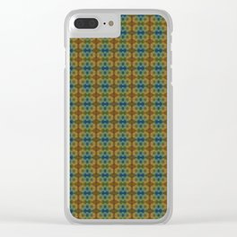 Capricorn Sun Sign Flower of Life Pattern Clear iPhone Case
