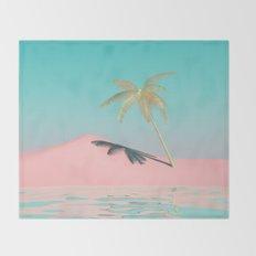 Palm Tree Oasis Throw Blanket