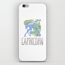 Capricorn - earth sign iPhone Skin