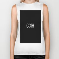 goth Biker Tanks featuring Goth by TayRavenna
