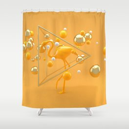 Stork in yellow - Animal Display 3D series Shower Curtain