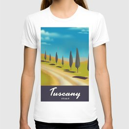 Tuscany Italy travel poster T-shirt