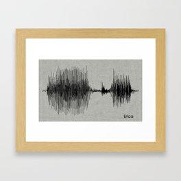 Erica Waveform Framed Art Print