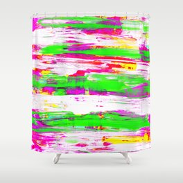 Neon Summer Abstract Shower Curtain