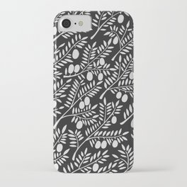 White Olive Branches iPhone Case