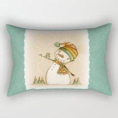 Hello Bluebird - by Diane Duda Art Rectangular Pillow