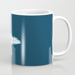 Blue geo polar bear looking for love.. Coffee Mug