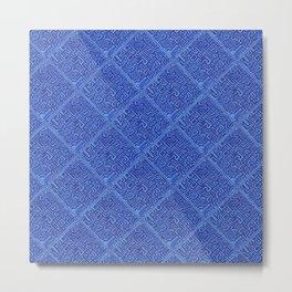 Blue Geometrics Metal Print