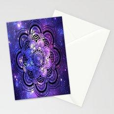 Mandala : Purple Blue Galaxy Stationery Cards