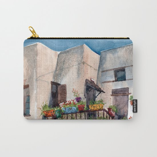 Herbs and blossom on Rhodian balcony Carry-All Pouch