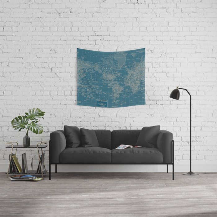 The World According to US Wall Tapestry