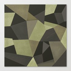 Black shabby green patches of the skin . Canvas Print