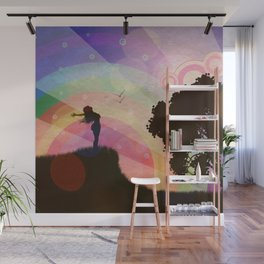 Freedom and rainbow Wall Mural