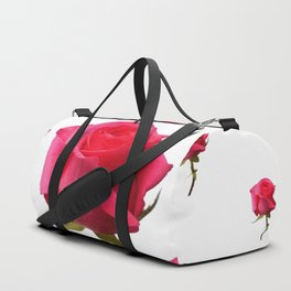 SCATTERED PINK ROSE BUDS FLOWERS Duffle Bag