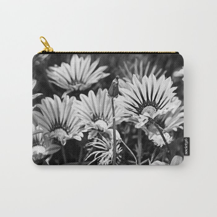 Desert Daisies (bnw) - Daisy Project in memory of Mackenzie Carry-All Pouch