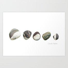 Clovelly Pebbles Art Print