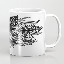 Zentangle Feather Coffee Mug