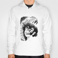 akira Hoodies featuring Akira Screaming by Ellyn Gazda