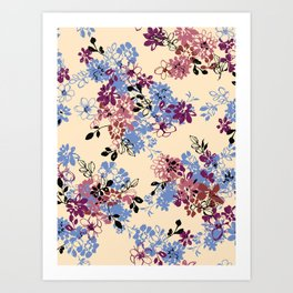 pattern art flower #4 Art Print