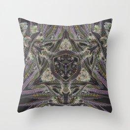Purple Black Lime #2 Throw Pillow
