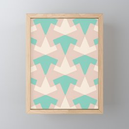 Geometrical pattern in pastel pink Framed Mini Art Print