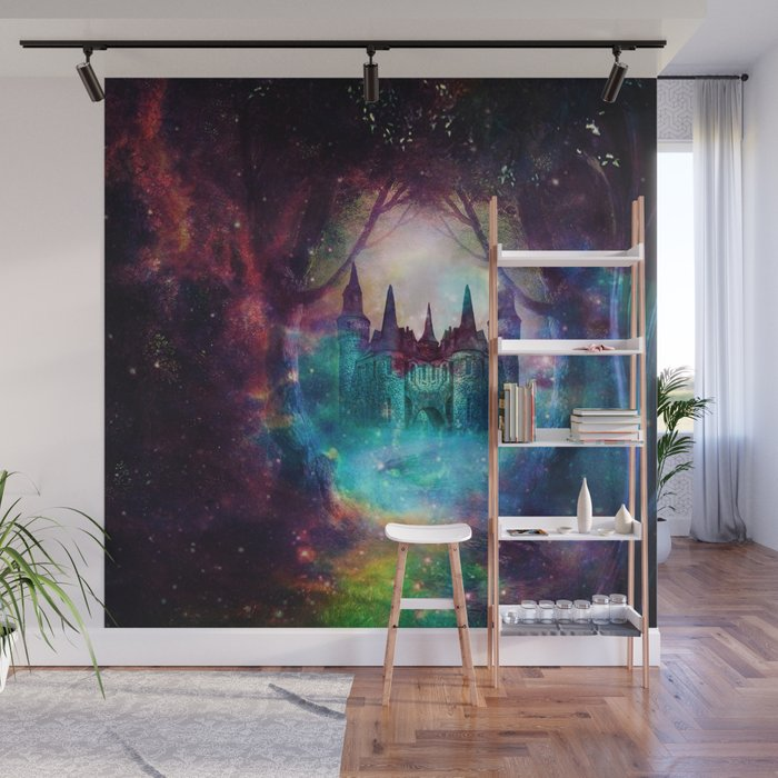 Magical castle Wall Mural by haroulita Society6