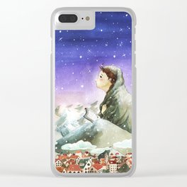 A Girl Reading Clear iPhone Case