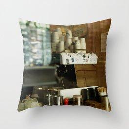 Curious Monkey Coffee Company Throw Pillow