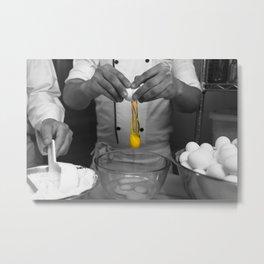 Egg Yolk Break Metal Print