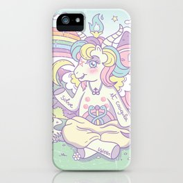 My Little Baphomet iPhone Case