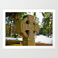 celtic Art Prints featuring Celtic snow by Vorona Photography
