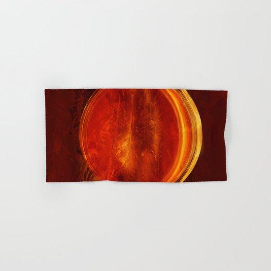 meditation orange Hand & Bath Towel
