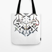 fire emblem Tote Bags featuring Emblem by Jeevesmeister
