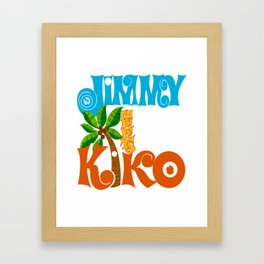 Jimmy Meets Kiko Framed Art Print